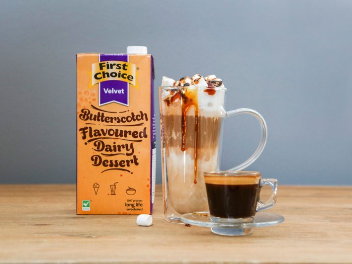 Butterscotch Latte made with First Choice products